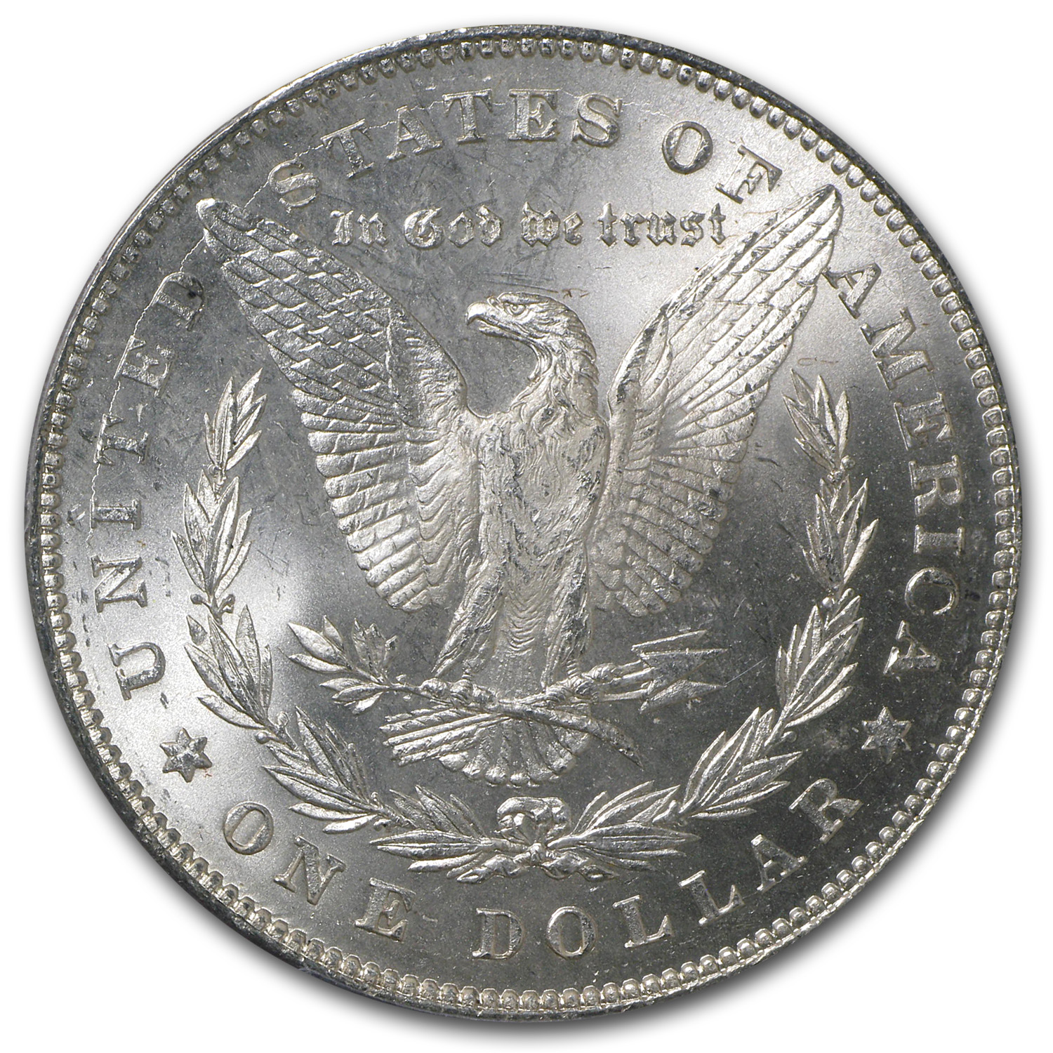 1878 Morgan Dollar - 7/8 Tailfeathers Strong MS-63 PCGS